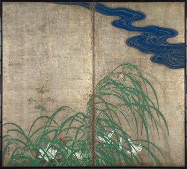 酒井抱一の「夏秋草図屏風」は尾形光琳「風神雷神図屏風」の裏に描かれていた!