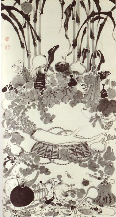 伊藤若冲のユーモラスな水墨画に注目。